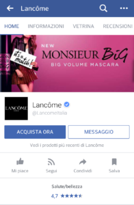 pagina facebook tab mobile