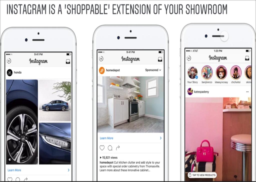 catalogo prodotti instagram